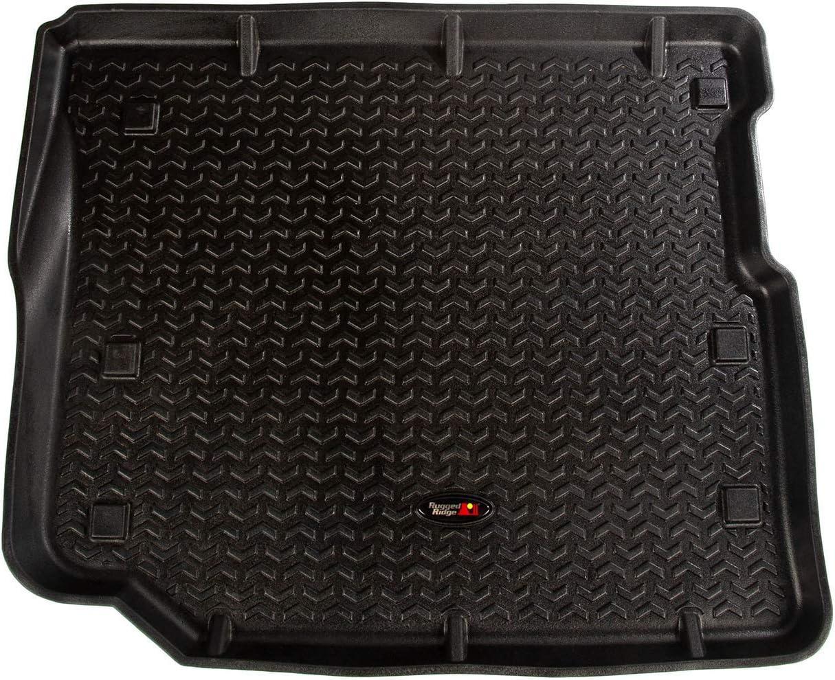 Front 2018-current Jeep Wrangler JL//JLU//JT All Terrain Floor Liner Rugged Ridge 12920.36 Black