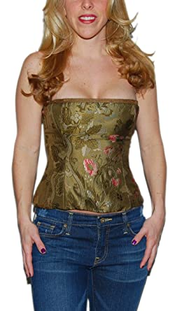 b1e0173b50 Image Unavailable. Image not available for. Color  Ralph Lauren Polo Black  Label Womens Silk Floral Corset Tube Top ...