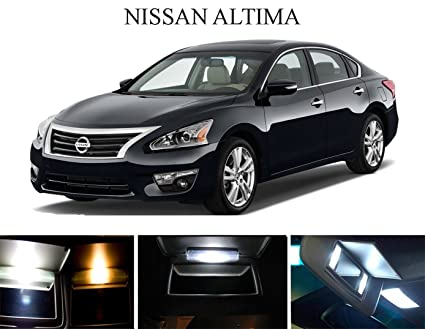 Amazon.com  2002 - 2015 Nissan Altima Xenon White LED Light Bulbs ... dcdd2c63970