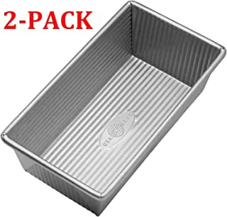 product image for 1140LF Bakeware Aluminized Steel Loaf Pan 8.5 x 4.5 x 3-Inch Small, Silver (1 Pound - Loaf Pan (2-Pack))