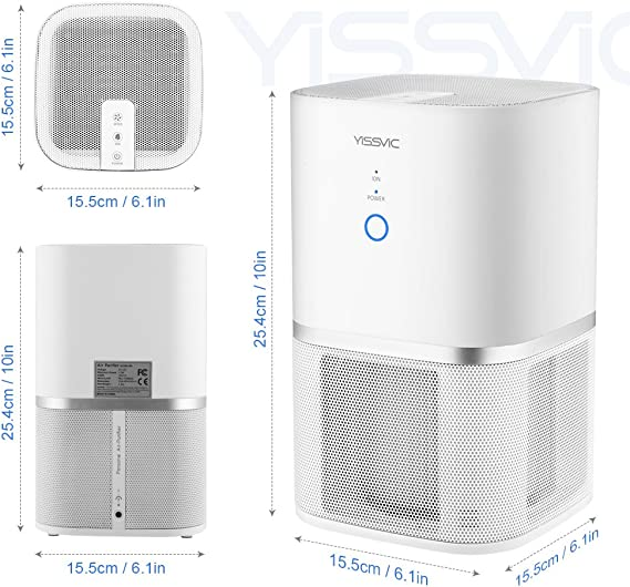 yissvic purificador de aire 5 etapes de filtración con filtro HEPA ...