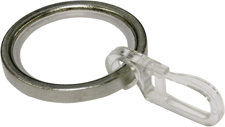 24x Metall Gardinenringe Vorhangringe für Gardinenstangen mit Rollerball