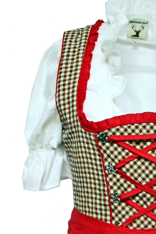 Trachtenkleid Alpenmärchen 32 bis 60 Bluse Gr 3tlg Dirndl-Set Schürze
