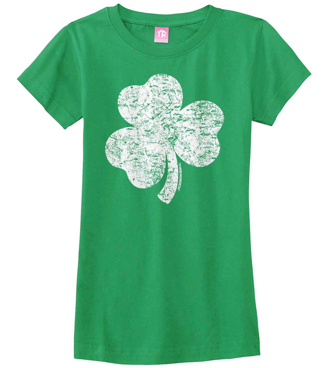 Big Girls Distressed Shamrock Ted T Shirt