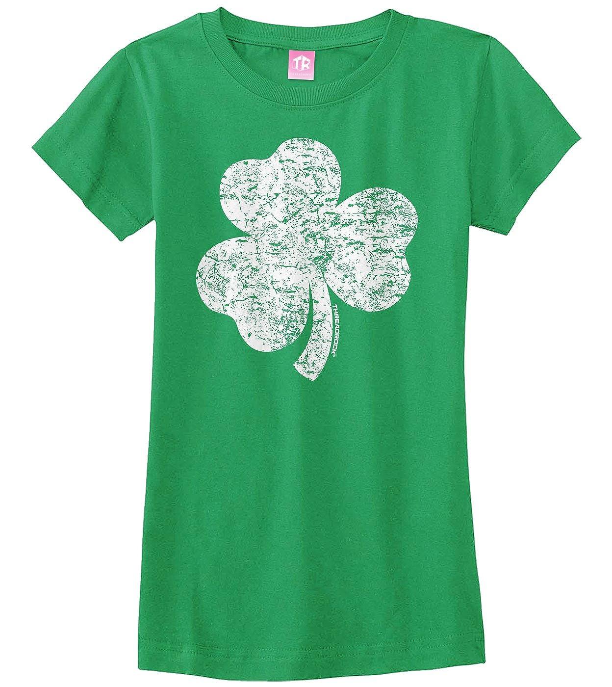 5ac42b009 Amazon.com: Threadrock Big Girls' Distressed Shamrock Fitted T-Shirt:  Clothing
