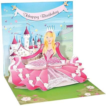 3D Tarjeta de felicitación - princesa - feliz cumpleaños ...