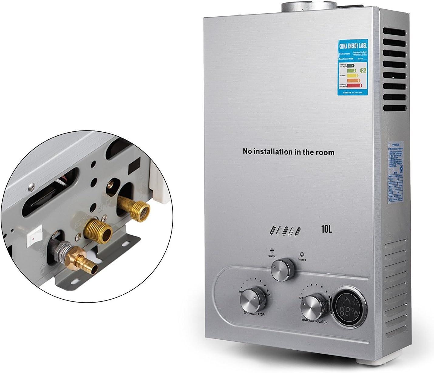 Guellin LNG Calentador de Agua de Gas Natural Calentador de Agua Calentador de Agua Automático Calentador de Agua Instantáneo Natural Gas Water Heater (10L)