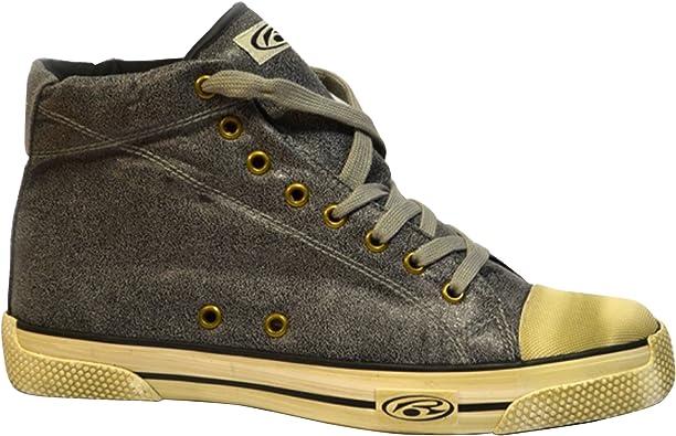 Rurik Anthracite Leatherette - Zapatillas de Estilo Desgastado y caña Alta (44 EUR) (Gris Oscuro): Amazon.es: Zapatos y complementos