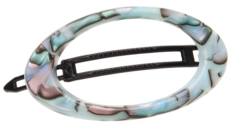 France Luxe Cutout Oval Plastic Tige Boule Barrette - South Sea : Beauty