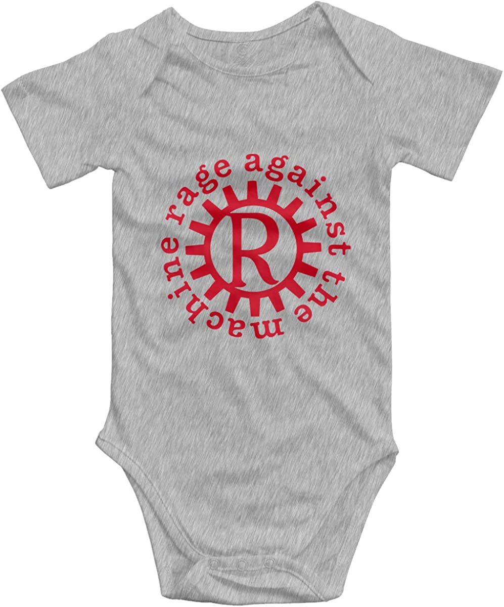 Rage Against The Machine Anarchy Simple Cute Toddler Baby Onesies Cotton Short Sleeve Bodysuit for Unisex