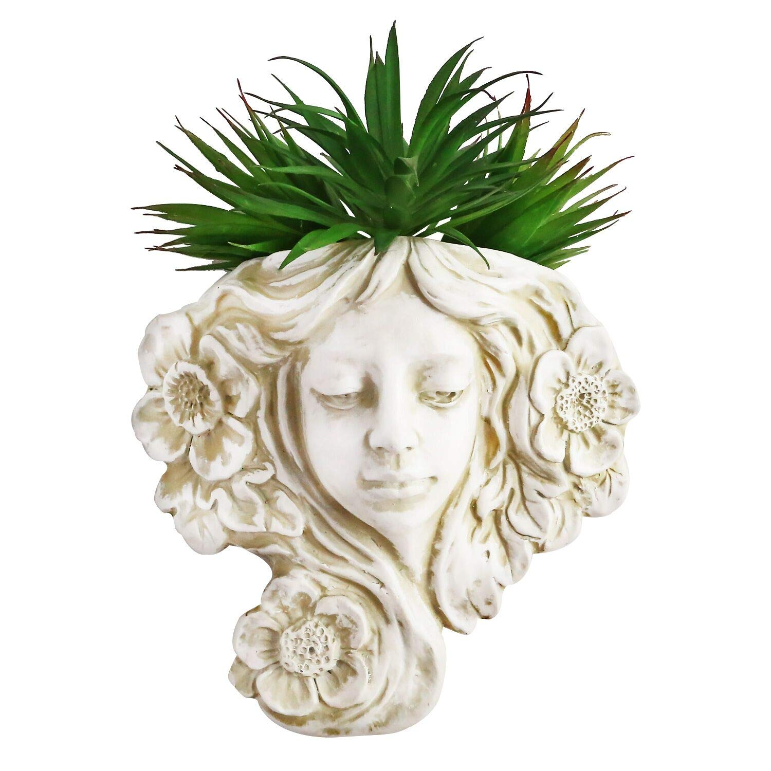 simpdecor Hanging Plant Pot & Wall Mounted Planter Vase, Angel Hanging Wall Decoration -Great for Succulent Plants Faux Plants Indoor or Outdoor Hanging Decor