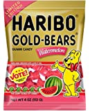 Haribo Gold Bears Gummi Candy Limited Edition Watermelon Flavor, 4 Ounce Bag