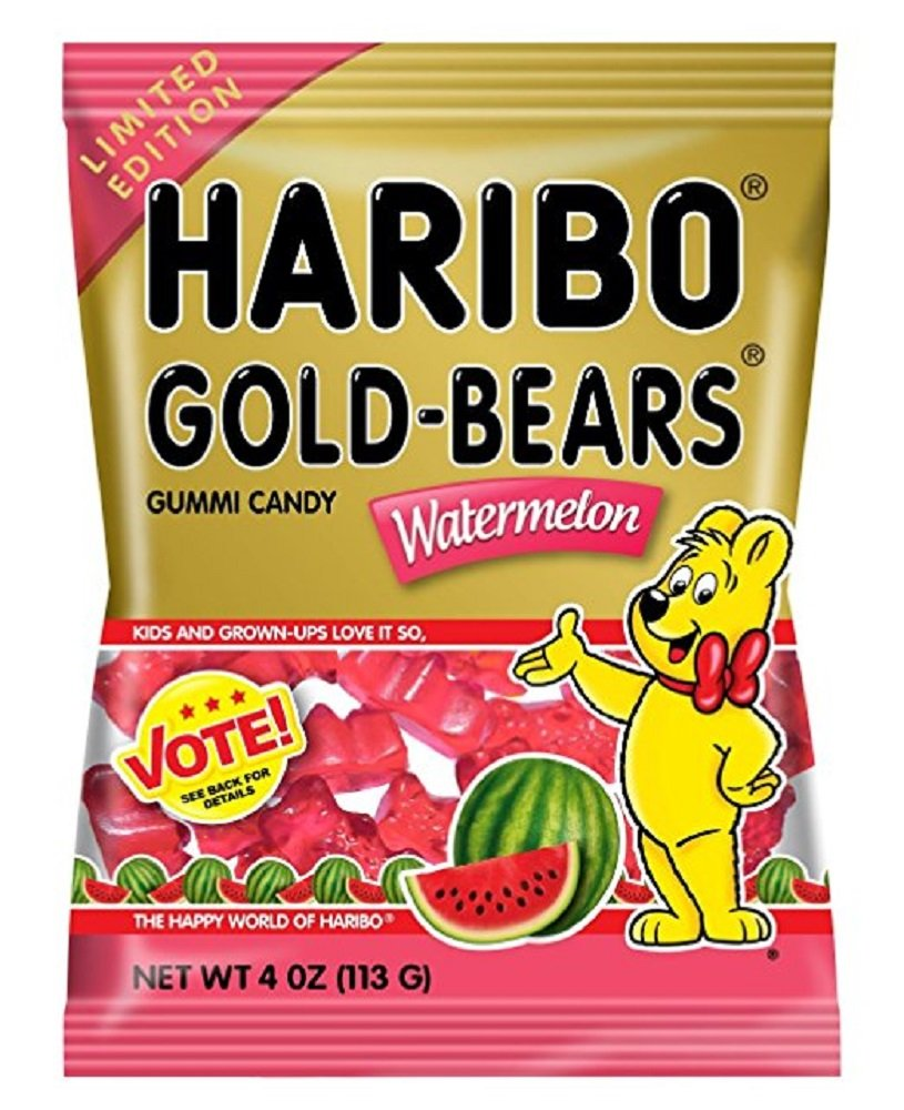 Haribo gummy bears are just one of many products that thomas - Haribo Gold Bears Gummi Candy Limited Edition Watermelon Flavor 4 Ounce Bag