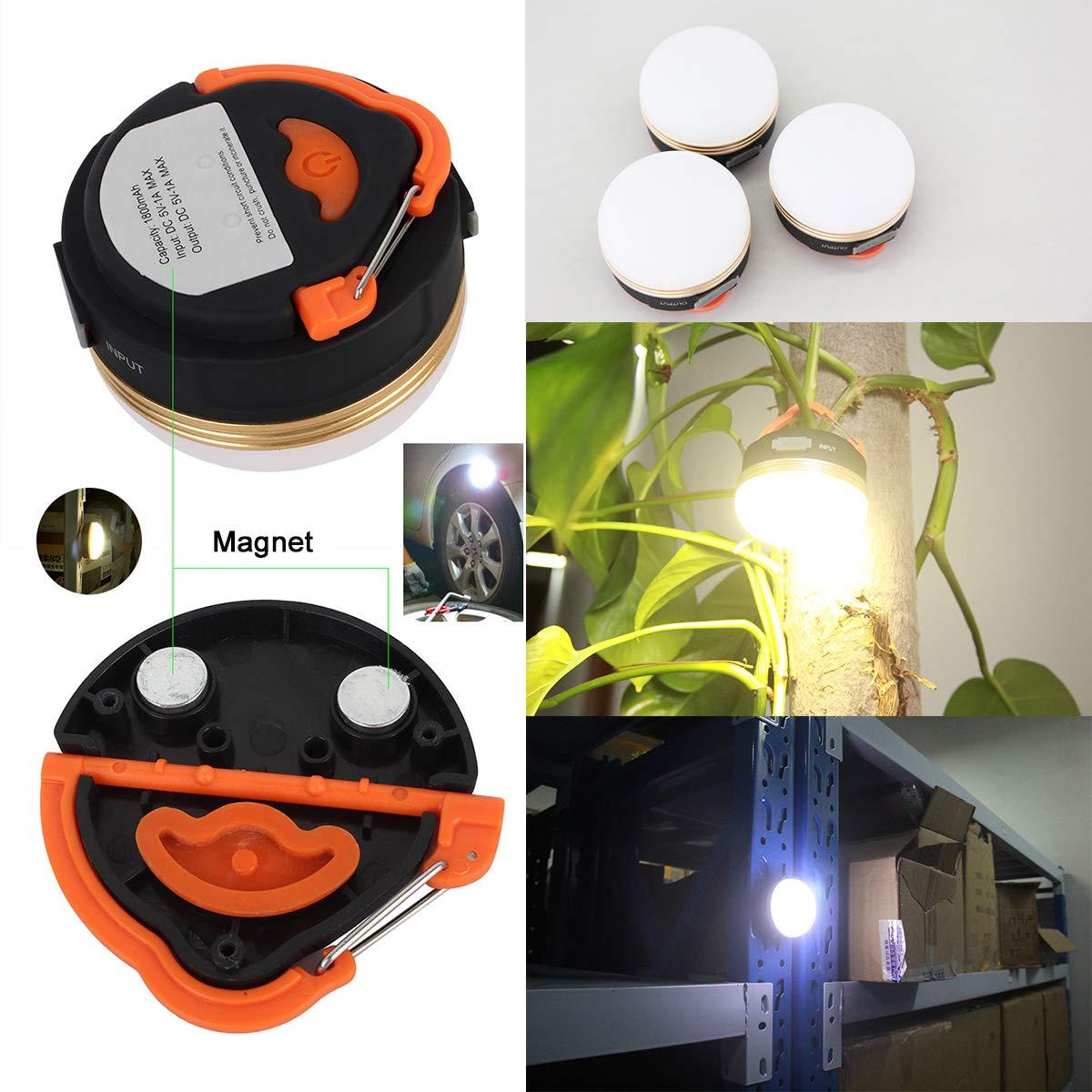 PAGAO USB Camp lumi/ère Camping /équipements de Sport Kits Lanterne Lampe Torche Mini Camp lumi/ère