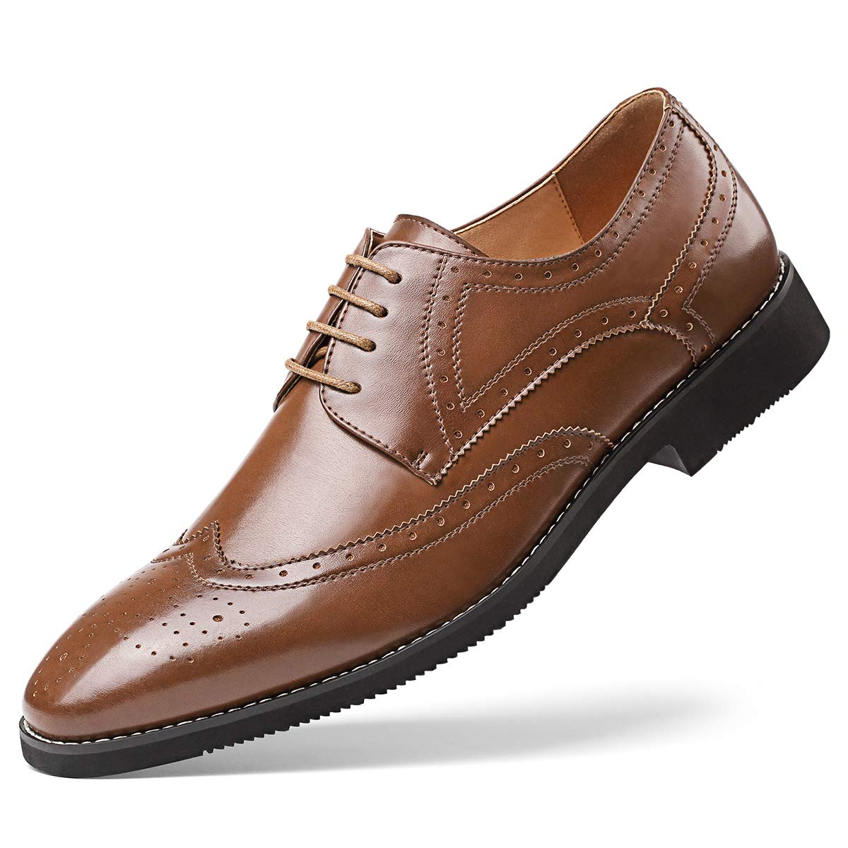 Amazoncom Mens Leather Oxford Dress Shoes Formal Lace Up Modern
