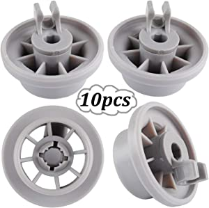 Bosch Dishwasher Wheels 165314 - WENTS Dishwasher Lower Rack Wheel Clips for Bosch Neff Siemens Replacement Part Pack of 10