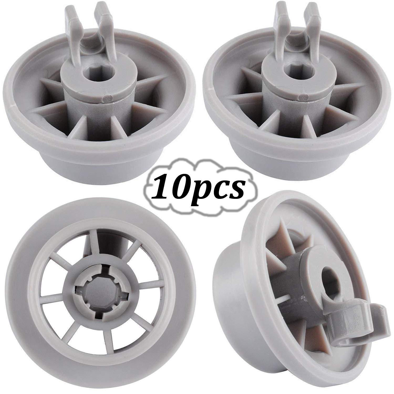 WENTS 10PCS roues pour Roues de Panier de lave-vaisselle pour Bosch//Siemens//Neff//Constructa Compatible avec num/éro de la pi/èce 00165314//165314 Roulettes pour lave-vaisselle