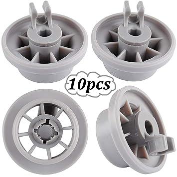 Ruedas lavavajillas 165314 - WENTS ruedas de lavavajillas para muchos comunes lavavajillas de Bosch Zanussi Miele etcétera - ruedas bandeja ...