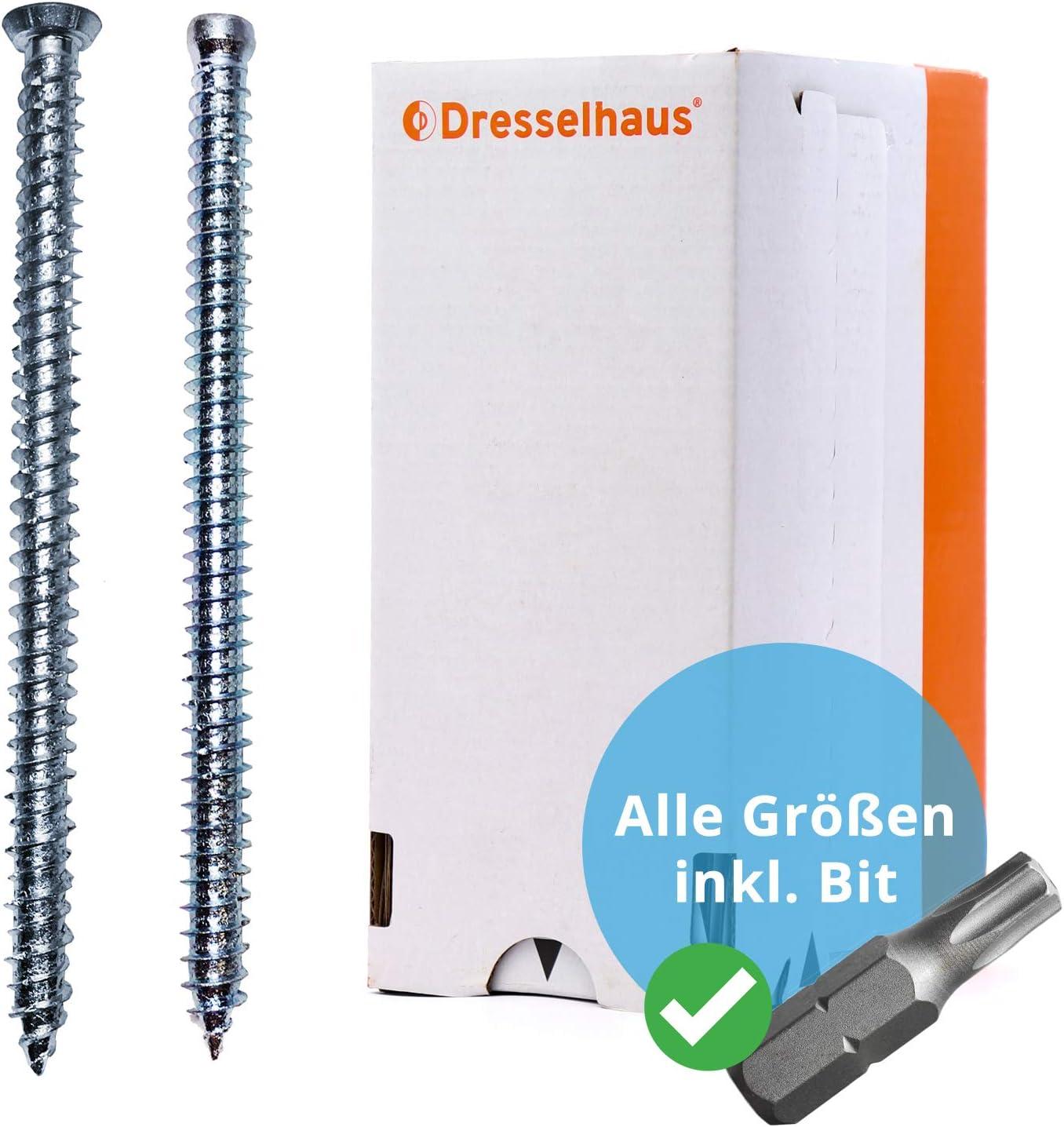 Sechskant Holzschrauben DIN 571 Wiener Schraube 25 St/ück verzinkt 12x400 mm Belko Schl/üsselschrauben