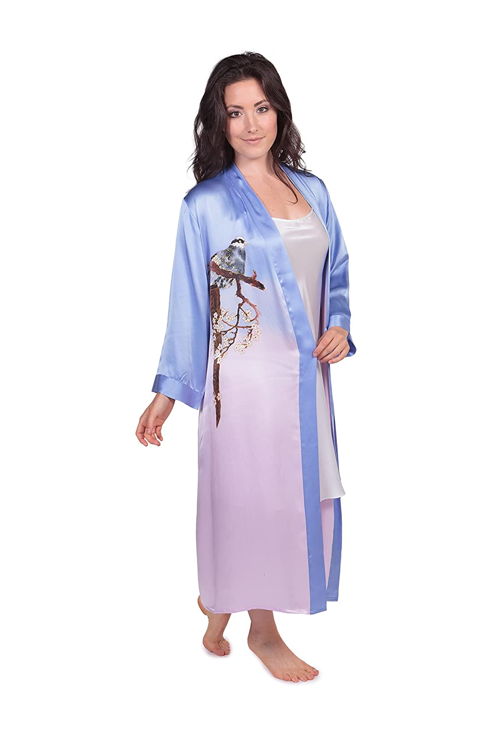 TexereSilk Women s Long Silk Ombre Robe - Luxury Beautiful Gifts for Her at  Amazon Women s Clothing store  337569bc0