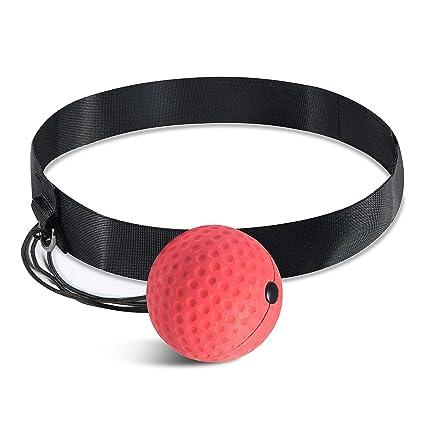 WolinTek Boxen Training Ball Trainingsger/ät Speedball f/ür Boxtraining Zuhause und Outdoor Fight-Ball-Reflex Speed Fitness Punch Boxing Ball mit Kopfband