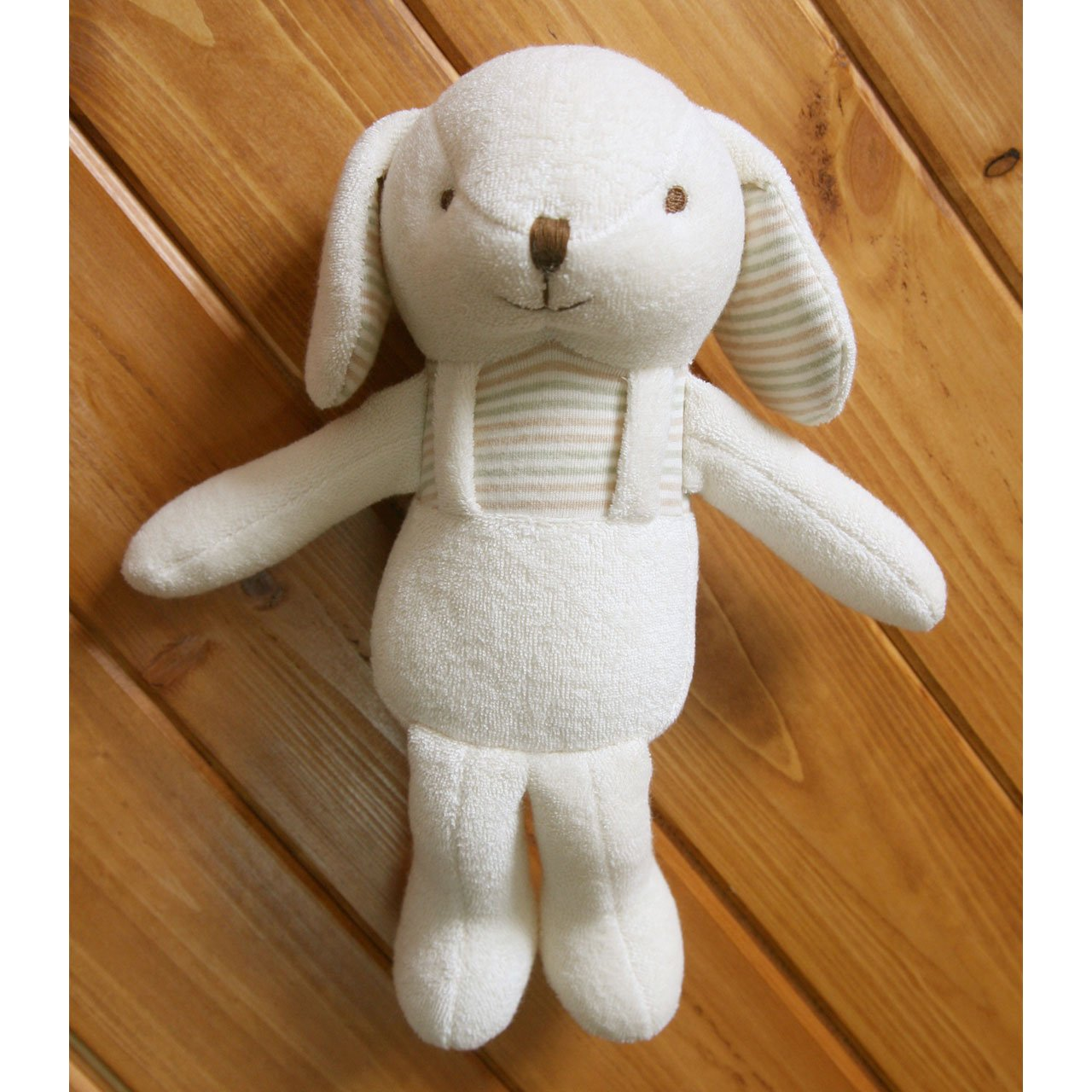 (Lovely Puppy)100% Certified Organic Cotton Baby First Doll 11 inches (No Dyeing)