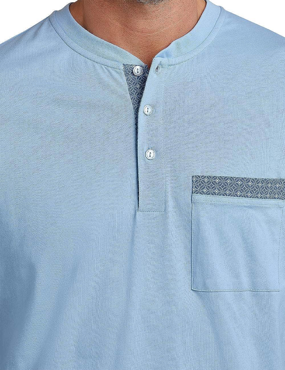 Schiesser Herren Kurz mit Knopfleiste Zweiteiliger Schlafanzug