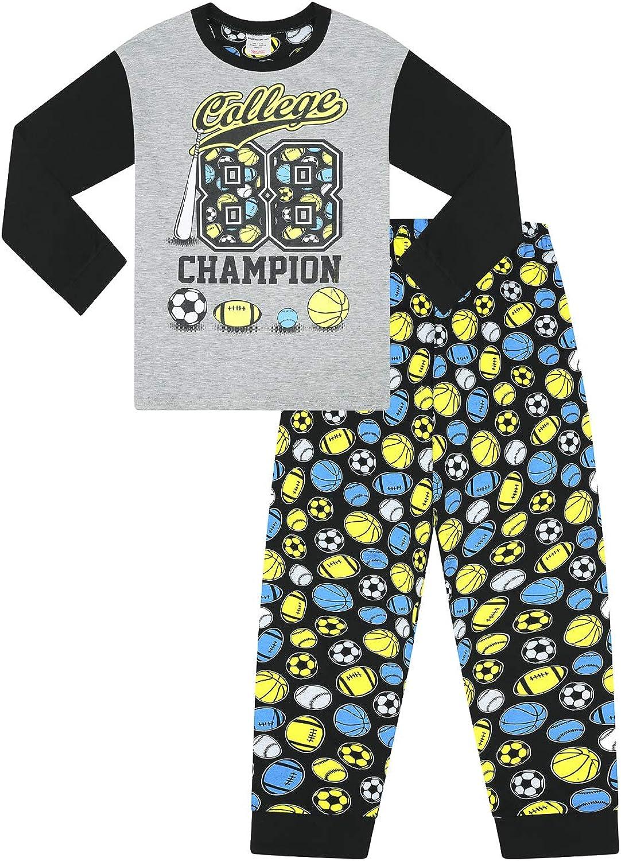 Pijamas de algodón para niños de la universidad 88 Ball Champion