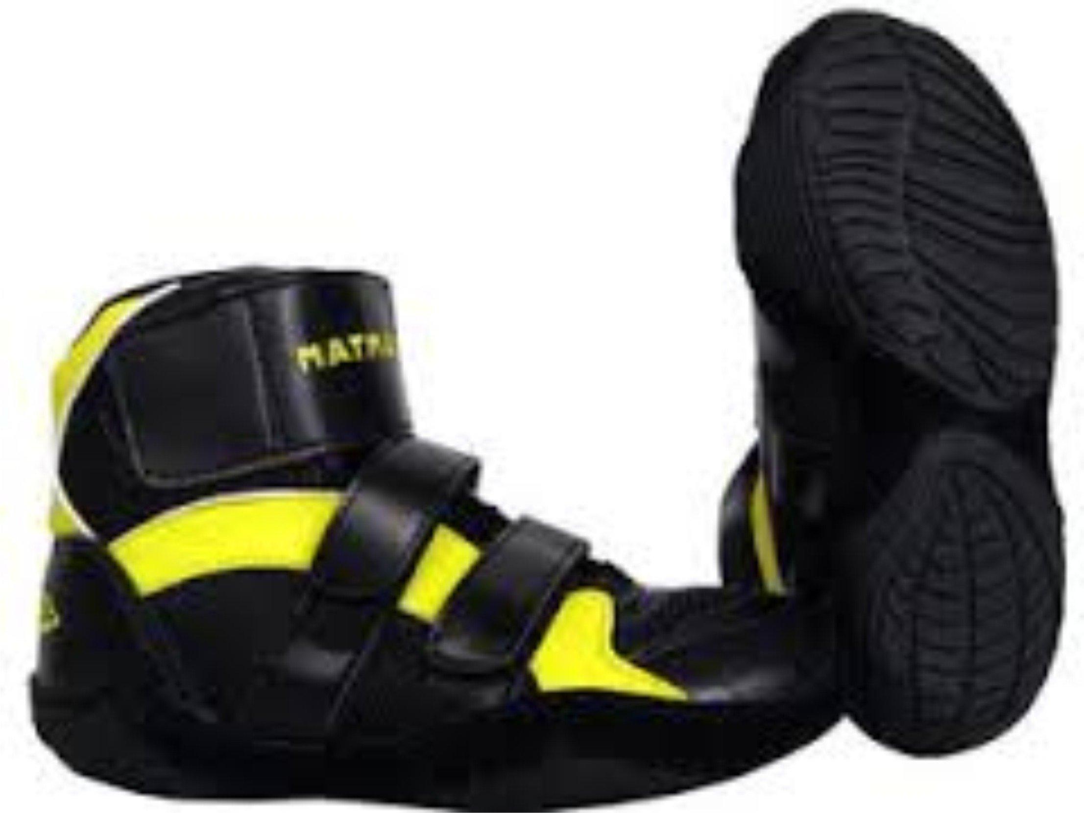 Matman Scrapper Youth Wrestling Shoes - Black/Gold Gold - 5 by Matman