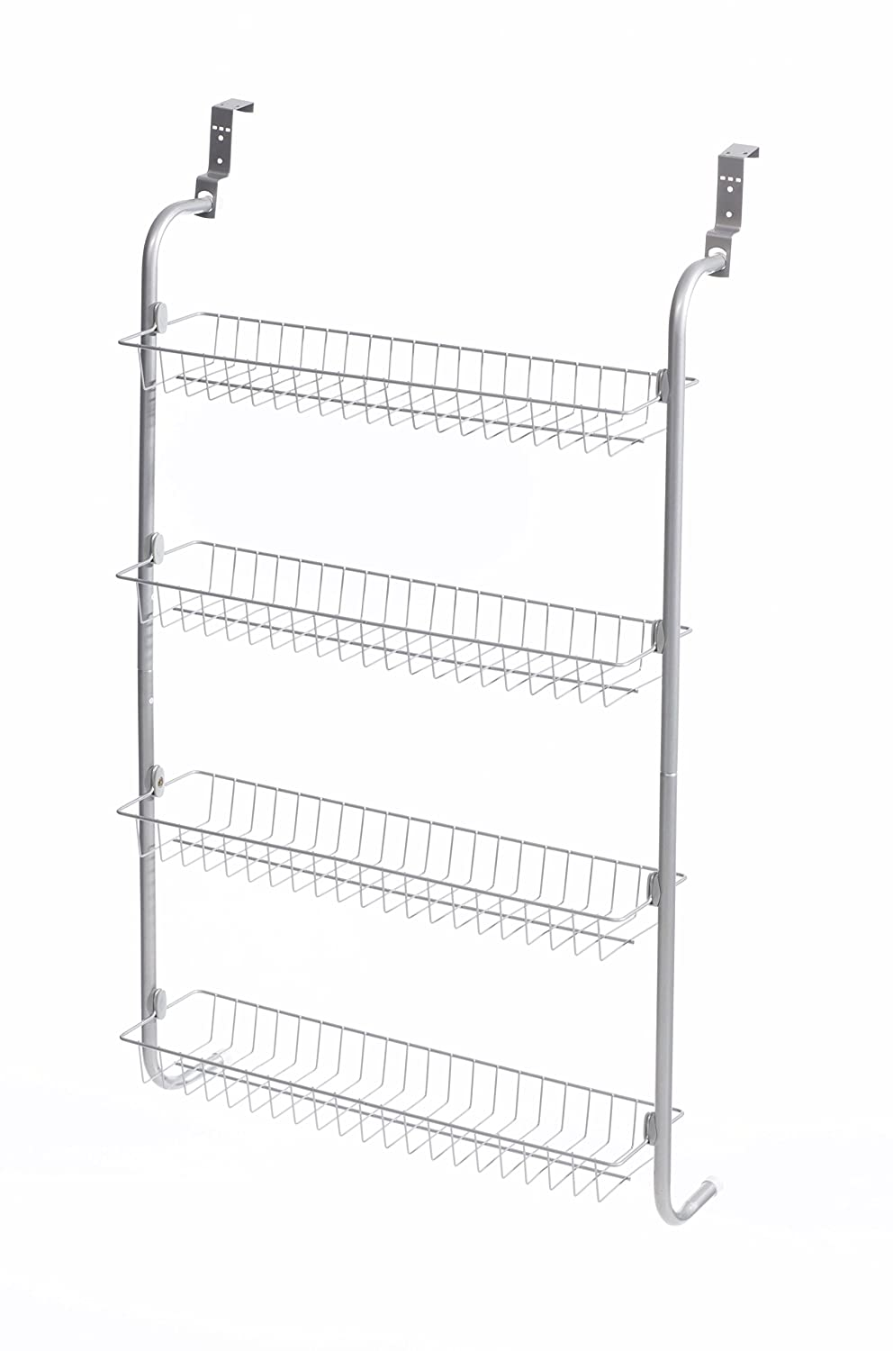 DIRECT ONLINE HOUSEWARE 4-Tier Over Door Hanging Rack/Shelves for Pantry or Storage Cupboard, Grey RICOMEX UK LTD RBW1502