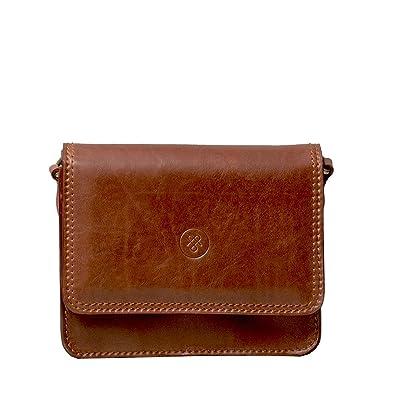 724cc3d6eec1a Amazon.com  Maxwell Scott Personalized Luxury Tan Leather Purse ...