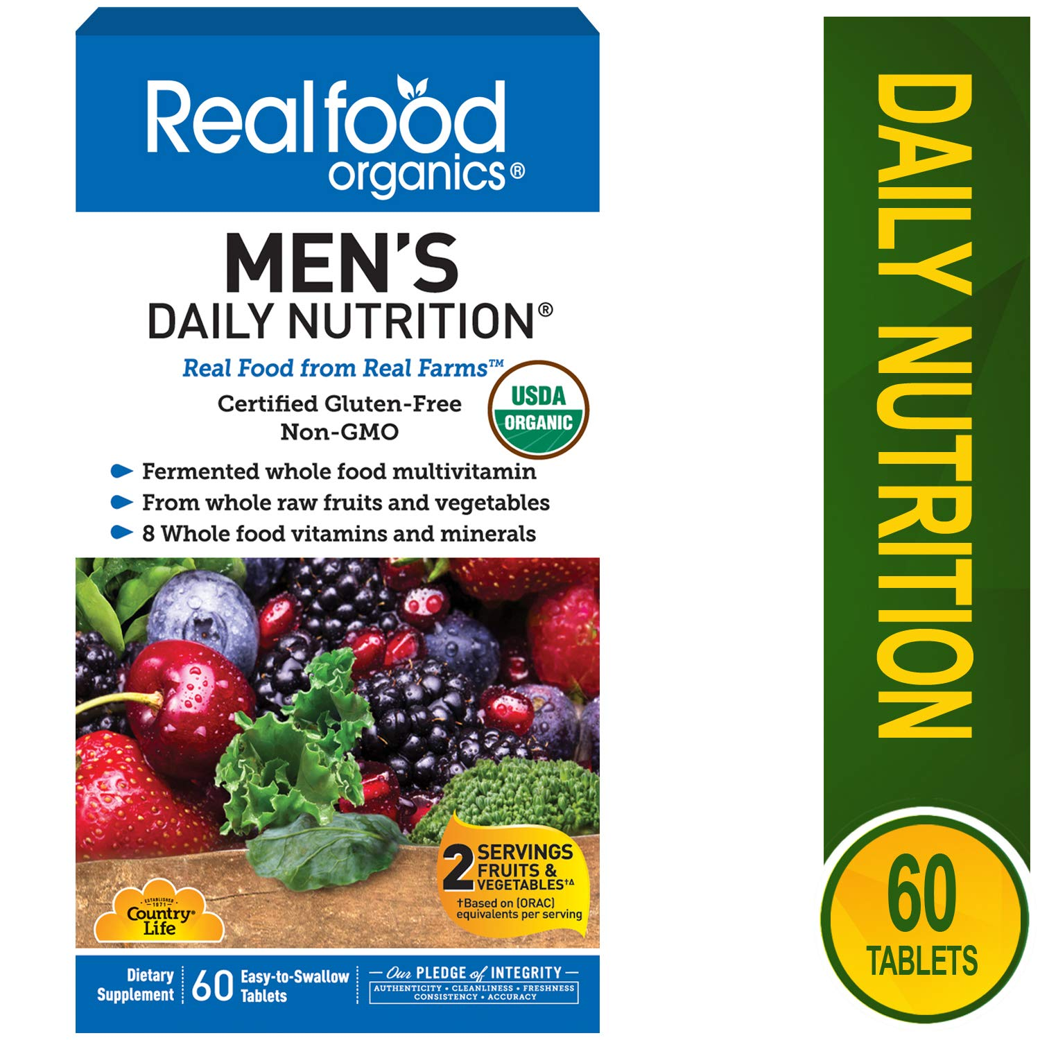 Country Life Realfood Organics Men s Daily Nutrition – 60 Tablets