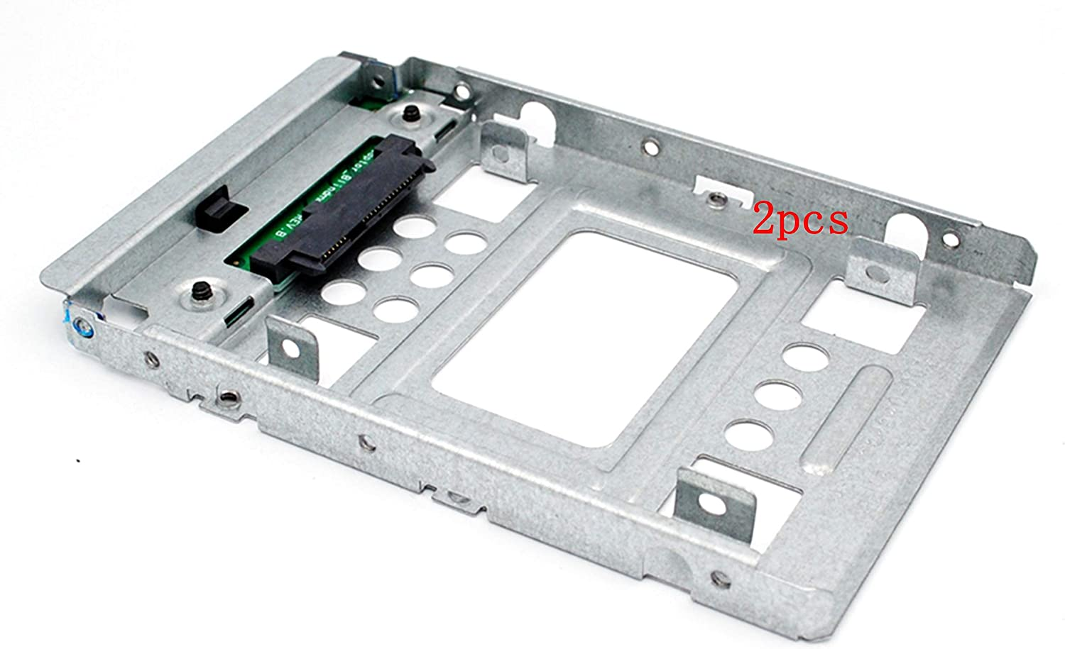 "2-pcs 2.5"" to 3.5"" SSD Sata Hard Disk Drive HDD Adapter Caddy Tray Cage Hot Swap Plug Converter Bracket 654540-001 for Dell kg1ch F238F for HP 651314-001 373211-001 etc."