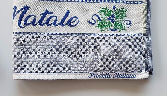 M&O Andrea Paños secador de Platos navideños Variante Feliz Navidad Juego de Tres Piezas 100% Algodón con inserción en Tela Aida para Bordar Punto Cruz: ...