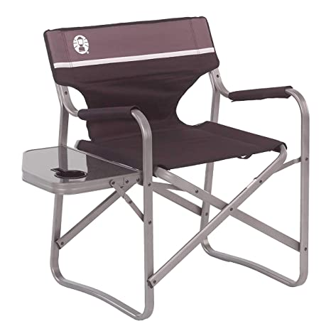 Amazoncom Coleman Portable Deck Chair With Side Table Camping