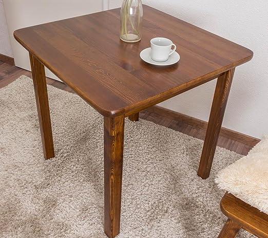 Comedor Mesa comedor 75 x 75 cm, color: roble: Amazon.es ...