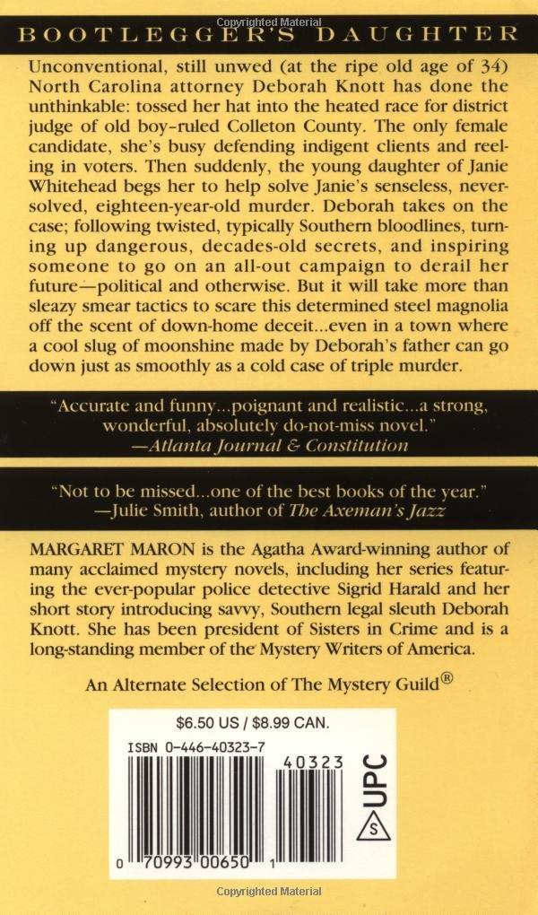 Bootlegger's Daughter (Deborah Knott Mysteries, No  1): Margaret