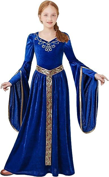 Pettigirl Niña Disfraz Princesa Medieval Renacimiento Disfraz ...