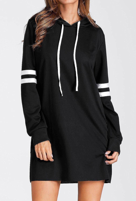 Flying Rabbit Womens Hoodies Sweatshirt Pullover Sweaters Long Sleeve Pullover Jumper Long Tops Pullover Dress Sweatshirt