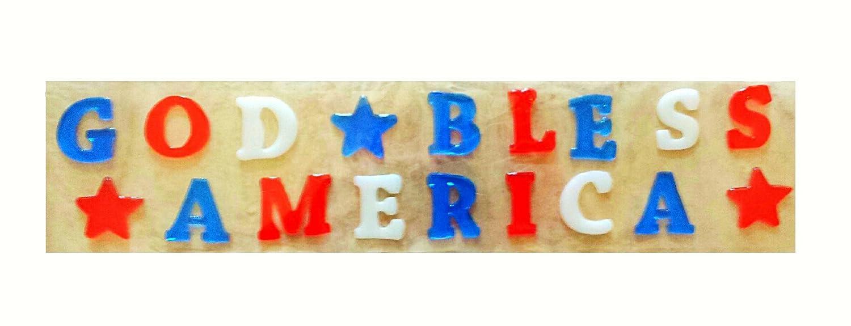 God Bless America Gel Window Clings Patriotic Window Decoration B0751Y8JPS