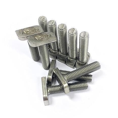 10 x Tornillos de cabeza de martillo, M8 x 35, acero ...