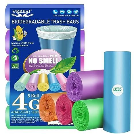 Bolsas de basura biodegradables de 4 galones, 150 unidades ...