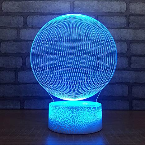 3D Pelota abstracta lámpara luz nocturna óptico Illusions 7 Cambio ...