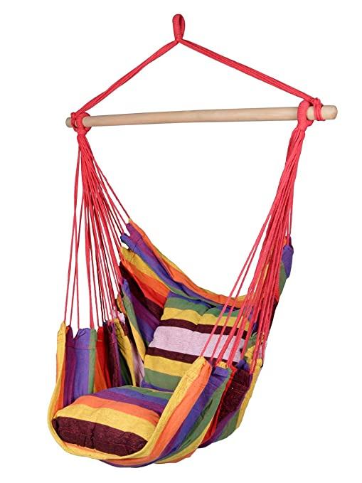 Superbe TMS Canvas Hanging Chair Outdoor Porch Swing Yard Tree Hammock Cotton  Polyester,Multi Color