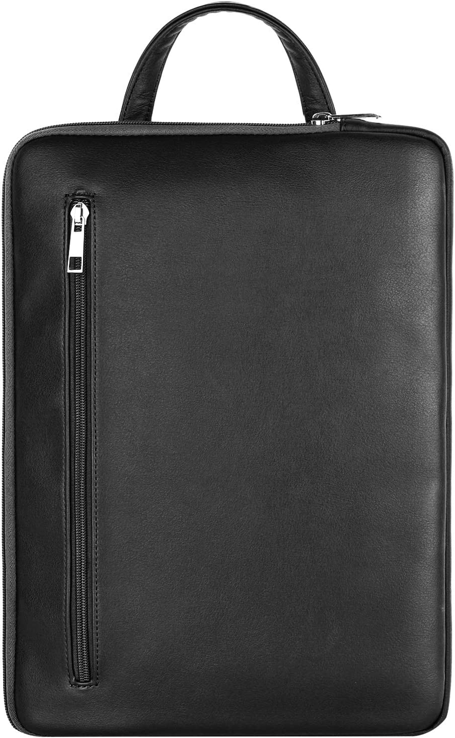 "MoKo 13-13.5 Inch Laptop Sleeve Bag with Handle Fits MacBook Pro/MacBook Air 13 Inch, Surface Book/Surface Laptop Surface Pro X 13"", PU Leather Ultrabook Briefcase Carrying Case Bag - Black"