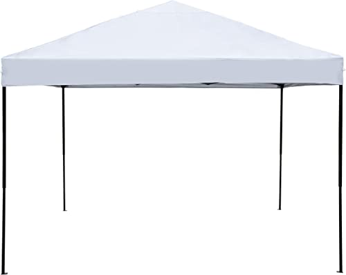 LEYOUJIA Pop Up Tent Canopy 10×10 Ez Up Outdoor Beach Canopy White