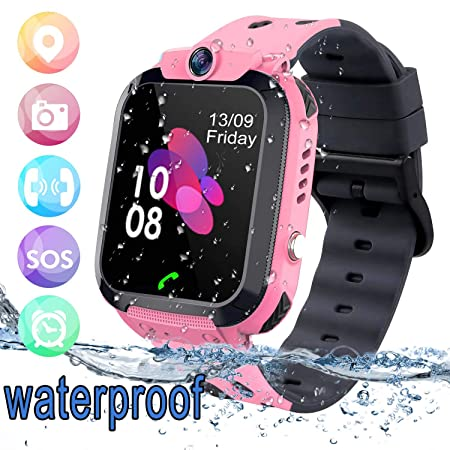 bhdlovely Smartwatch Niños Reloj GPS/LBS a Prueba de Agua: Amazon ...