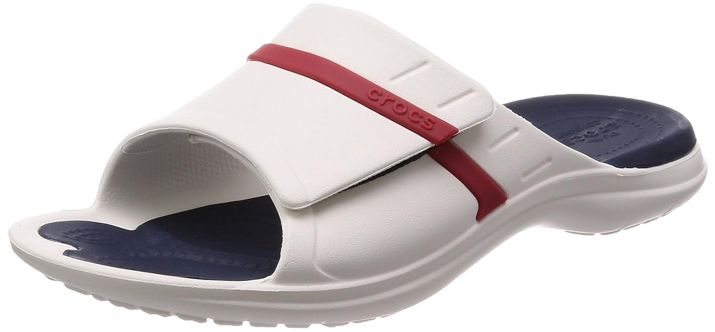 Blanc 46 47 EU Crocs Modi Sport Slide U, Chaussures de Plage & Piscine Mixte Adulte