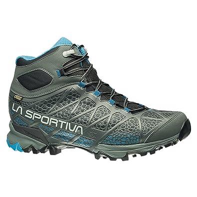 La Sportiva Men's Core High GTX Trail Hiking Boot, Carbon/Blue, ...