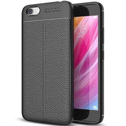 buy popular 01bff 18afd Amazon.com: SCIMIN vivo Y65 Case, vivo Y65 Faux Leather Case, Soft ...